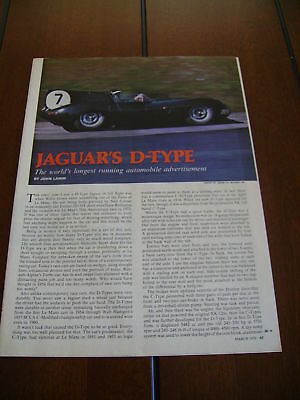 D-Type Jaguar  ***original Article*** D Type