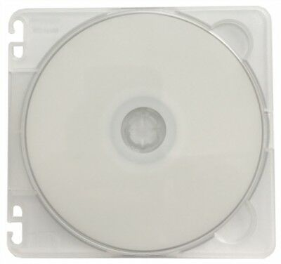 100 Traxdata SLIM Clear Single VCD PP Poly Cases 5MM with Binder Holes