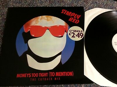 "Simply Red Moneys Too Tight Cutback Mix Uk 12"" Vinyl Record From Collection"