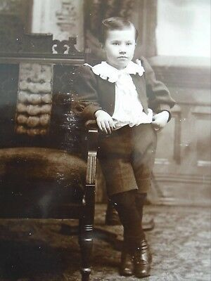 Antique Cabinet Card Young Gentleman with Attitude Yarmouth NS Great Clothing
