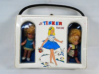 Vintage LIL TINKER PLAY CASE Peewee Doll Trio Hong Kong Handled Suitcase Toys