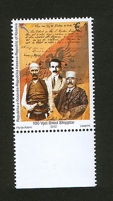 KOSOVO-MNH** STAMP-100th Years of the Albanian State-2012.