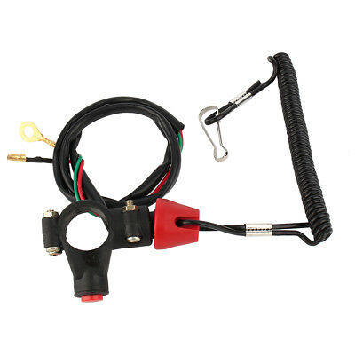 1x Engine Cord Lanyard Kill Stop Switch Safety Tether 12V CO For Motor ATV Boat