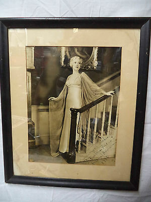USA Actress Barabara Brown in Personal Appearance 1936 Signed Framed Photo