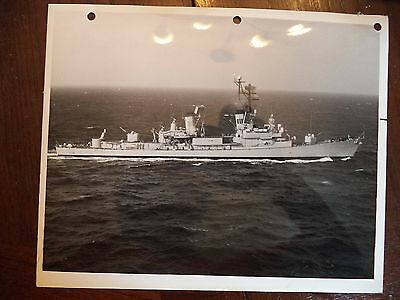 Vtg B&W Photo HMAS Hobart D39 US Navy Ship Crew US Naval Air Station Norfolk VA