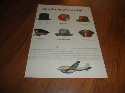 AIR TRANSPORT AD-Here Are Their HATS...They're In a Hurry