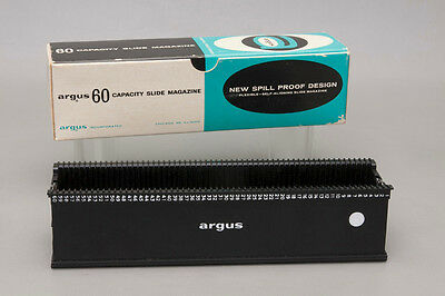Genuine Argus 60 Slide Magazine No. 587 for All 500 Series Projectors Used