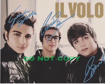 REPRINT RP 8x10 Signed Autographed Photo: IL VOLO, Italian Tenors