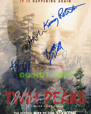 REPRINT RP 8x10 Signed Autographed Photo: The New Twin Peaks Cast