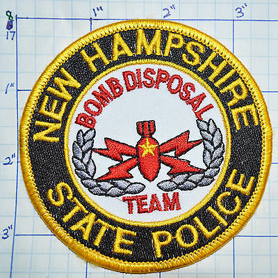 New Hampshire State Police Bomb Disposal Team Patch
