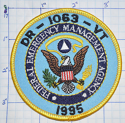 Vermont Dr-1063 Federal Emergency Management Agency 1995 Patch