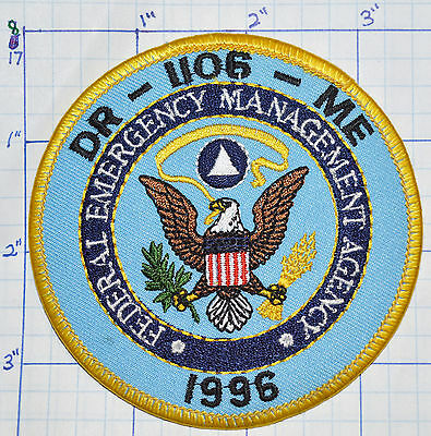 Maine Dr-1106 Federal Emergency Management Agency 1996 Patch