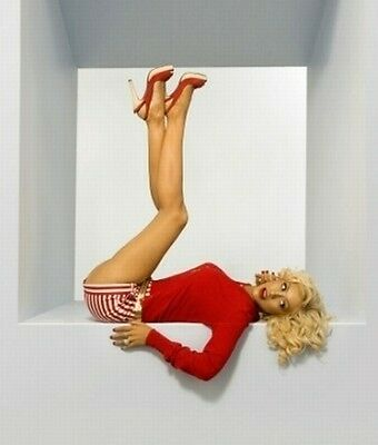 Christina Aguilera Color 8x10 Photo 46 PIN-UP STYLE LONG LEGS