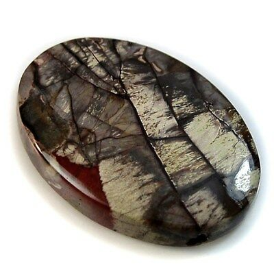 Natural Mushroom Rhyolite SIDE DRILLED Oval Cabochon / Pendant Bead Collection