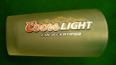 Coors light cold certified frosted beer glass 14 ounce