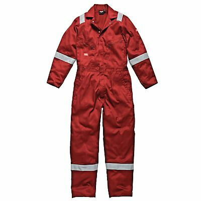 Dickies Lightweight Cotton Classic Car Mechanics Coverall In Red - Large (L)