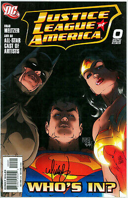 Justice League America #0 Df Dynamic Forces Signed Michael Turner Coa Jla Movie