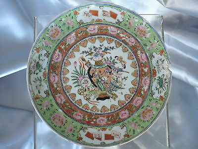 Assiette Porcelaine De Canton Chine Debut Du 19 Eme Siecle