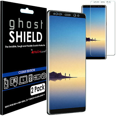 2x TECHGEAR (TPU) FULL COVERAGE Screen Protector Cover for Samsung Galaxy Note 8