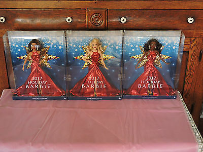 2017 Holiday Christmas Doll IN STOCK  Barbie Doll-- (Cacasion-AA--Latina)
