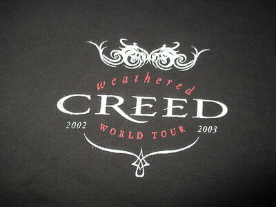 """2002-03 CREED """"Weathered"""" World Concert Tour (LG) T-Shirt"""