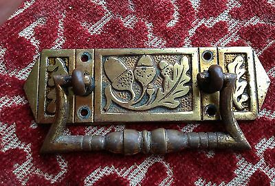 late victorian brass quality ( arts & crafts ) draw handle