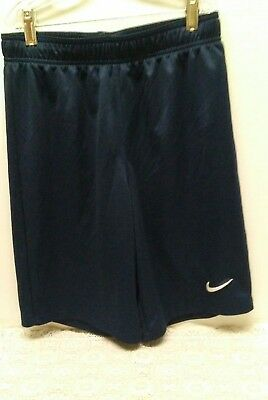 Nike Dri-Fit Navy Blue Athletic Shorts Unlined Kids Size S-P -Pre-Owned
