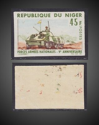 1966 Republic Of Niger Imperforate Proof Armored Car  War Sct. 177  Mi. 134