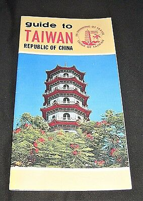 Vintage 1976 Guide to Taiwan Republic of China-Map, Tours, Shopping, Hotels, etc