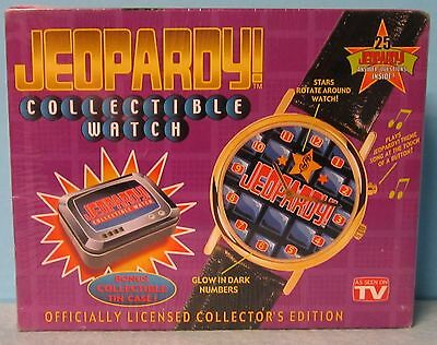 1999 Jeopardy Collectible Watch As Seen on TV Plays Jeopardy Theme NIB + COA