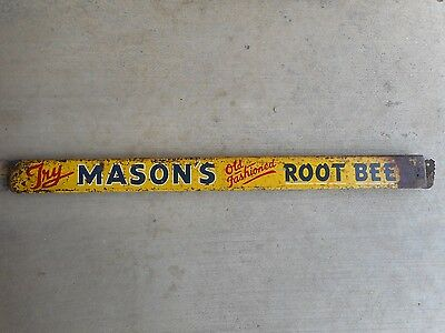 Vintage Mason's Root Beer Metal Door Push Sign