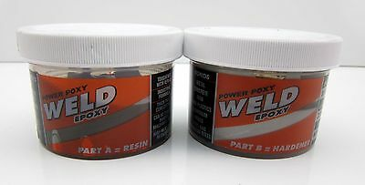 NEW Power Poxy 2 Part Weld Epoxy Metal Aluminum Brass Steel Concrete JB Glue
