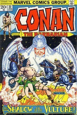 CONAN THE BARBARIAN #22 VG/F, Barry Smith, Marvel Comics 1973