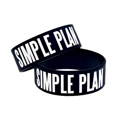 Simple Plan rock band Silicone Rubber Wristband bracelet jewelry gift