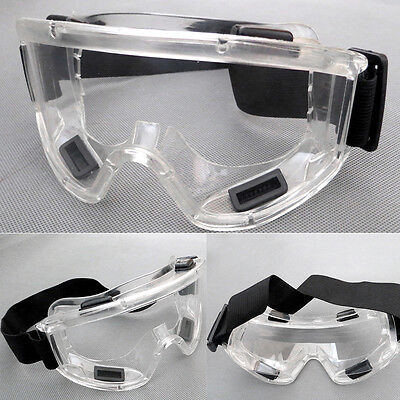 Protective Chemical Splash Safety Glasses Dust Proof Protector Clear Len Goggles