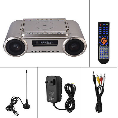 "Karaoke Machine & DVD Player Dual Microphone 9"" HD Display Screen & TV Tuner EB"
