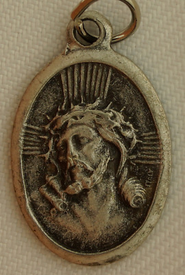 JESUS CROWN OF THORNS Medal SORROWFUL MARY MATER DOLOROSA Medal Easter Calvary