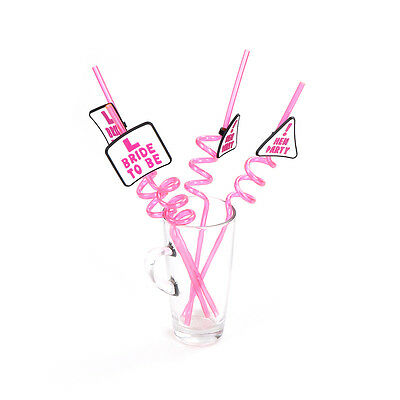 1piece Rose L Bride to Be Drinking Straw for Hen Night Party Girls Bachelorette