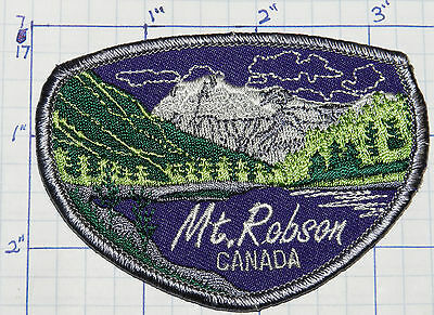 Canada, Mount Robson Highest Of Canadian Rockies Bc Souvenir Patch