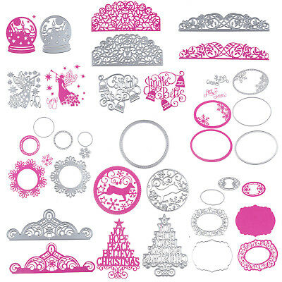 Xmas Halloween Metal Cutting Dies Stencils Scrapbooking Emboss Die Photo Craft