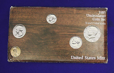 1985 UNCIRCULATED Genuine U.S. MINT SETS ISSUED BY U.S. MINT