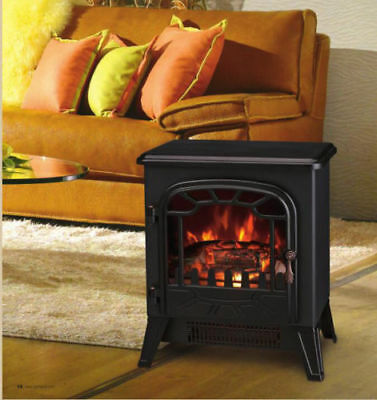 1800W Electric Fireplace Heater Fire Place Stove Fan Log Burning Flame Effect