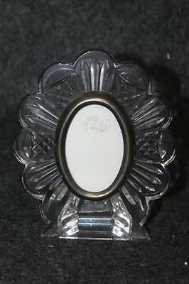"Gorgeous Waterford Crystal Super Cute Oval Picture Frame 5"" X 4 1/4"" For 3"" X 2"""