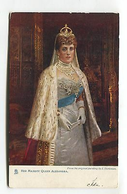 Queen Alexandra, wife of King Edward VII - Tuck postcard No. 6699, used in 1905