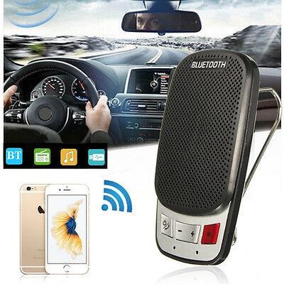 Inalámbrico Bluetooth 3.0 Coche Mano Libres Altavoz MP3 Reproductor HandsFree