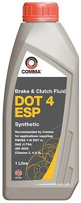 Comma 1L Brake Fluid 1 Litre DOT 4 ESP For Vauxhall Astra Twintop MK5 2006-2010