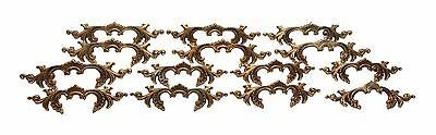 Vintage French Brass Victorian Dresser Pulls Set