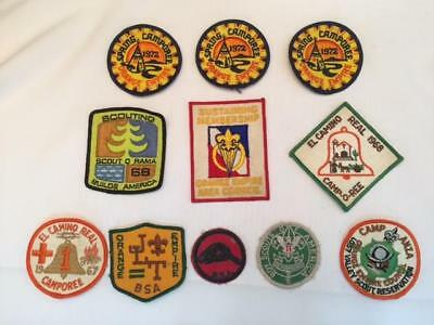 :) Vintage Boy Scouts Of America Patches Lot Of 11 1960's & 1970's Bsa