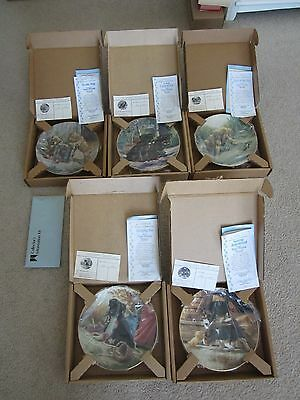 Lot of Hamilton Collection Jim Lamb Puppy Playtime Collectors Plates Total of 5