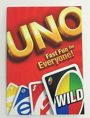 UNO Challenge - 64 Page Blank BOOKLET - great for recording UNO Card Game scores